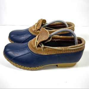 LL Bean Rubber Moc Bean Blue/Tan Women's Boots
